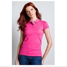 Lacoste Womens Classic Polo Shirt Sz 40 Medium