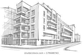 Architecture buildings drawings Pencil Architecture Sketch Drawing Of Buildingcity Shutterstock Building Drawing Images Stock Photos Vectors Shutterstock