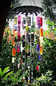 stain glass wind chime
