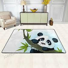 coosun giant panda climbing tree area rug carpet non slip floor mat doormats for living