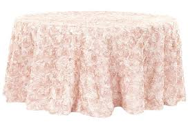 sheer round tablecloths wedding rosette satin round tablecloth blush rose gold sheer tablecloths