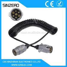 7 pin plastic trailer electric cable pvc tpu trailer spiral coil 7 pin plastic trailer electric cable pvc tpu trailer spiral coil 7 pin 12v