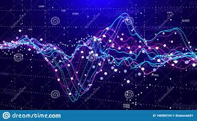 Stock Chart Big Stock Market Chart Big Data Business Graph Investment