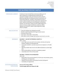 car salesman resume samples tips and templates