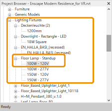 lighting in revit enscape