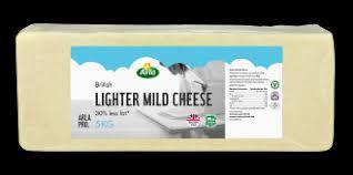 Arla Lighter Mild Cheddar Cheese Block <b>5kg</b> | Arla Pro.