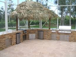 finished after building a custom outdoor kitchen