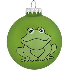 Frog Round Glass Ornament Ornaments Christmas Ornaments
