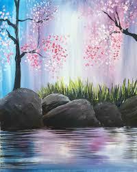 easy landscape painting ideas