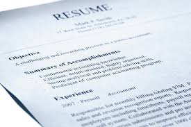 Account Manager Resume. Blue Tint. Stock Image - Image Of Text ...