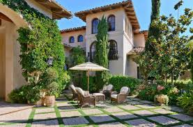plants hacienda style house plans with courtyard