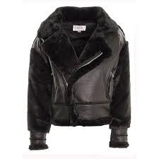 women s bonded faux fur faux leather biker jacket fur lined smart dressy coat