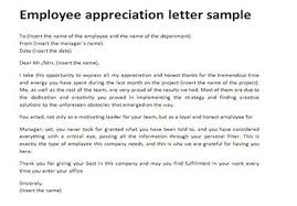 Letter Of Recognition Examples Employee Appreciation Letter All About Letter Examples