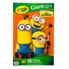 Crayola Giant Color Pages Minions Drawing Sketch Pads Amazon
