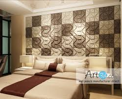 leather tiles in bedroom wall design