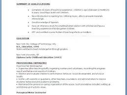 Resumes For Preschool Teachers Examples Of Teachers Resumes ...