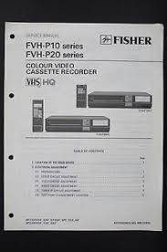 fisher fvh p10 p20 series original vcr service manual wiring diagram image is loading fisher fvh p10 p20 series original vcr service