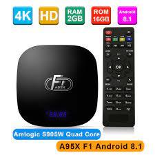 Ban Đầu A95X F1 Tivi Box Android 8.1 Amlogic S905W Smart Tivi Set Top Box  VP9 H.265 2 GB/16 GB 2.4G WIFI 100M LAN HD Chơi Phương Tiện Mới|Set-top  Boxes