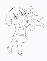Dora The Explorer Coloring Pages Dora