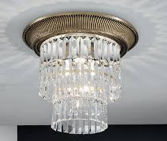 milord crystal medium ceiling light antique brass kolarz lighting