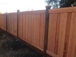redwood fencing
