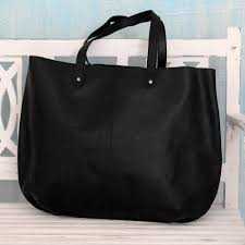 india large open unlined black leather tote handbag mumbai midnight