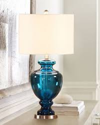blue glass lamp. Collection Of Blue Glass Table Lamp Base Cobalt Desk/table Lamp_silver
