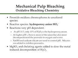 mechanical pulp bleaching oxidative bleaching chemistry