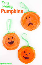 this pumpkin craft is perfect for toddlers and preers kids will love decorating their homemade