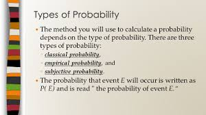 Types Of Probability Probability Unit Ppt Download