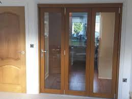 bifold doors oak coloured interior doors
