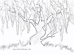 Small Picture Wisteria Willow Trace able for the Weeping Willow Q tip project on