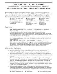 Rn Resumes Examples Custom Awesome Experienced Nursing Resumes Baskanai Rn Resume Samples