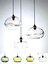 art glass pendant lights new art glass pendant light ball shaped clear hand blown glass mini
