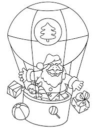 Kleurplaten Paradijs Kleurplaat De Kerstman In Een Luchtballon