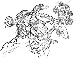Spiderman Venom Coloring Pages Print Coloring