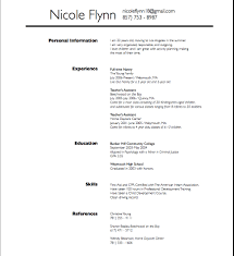Nanny Resume Samples Templates Examples Of Resumes Template
