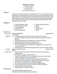 Nanny Resume Template Directory Structure Unique Resume Template Inspiration Infant Nanny Resume