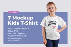 4,000+ vectors, stock photos & psd files. 7 Kids T Shirt Mockups In Apparel Mockups On Yellow Images Creative Store
