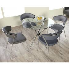 decoration 42 round glass table top popular 47 industrial hand crank dining pub with regard