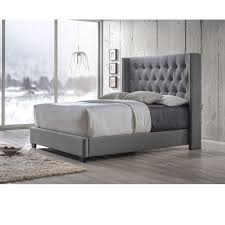 Diamond Tufted Wingback Bed in Grey in 2019 | Home Decor | Grey ...