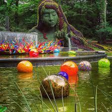 atlanta botanical garden atlanta georgia glass blower dale chihuly installed fiori boat and