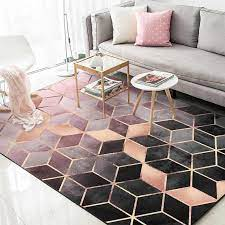 black rose gold living room carpet