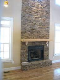 stacked stone fireplace surround ideas diy designs pictures fabulous floor to ceiling design with natural wall