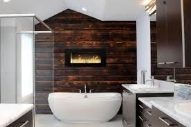 Bathroom: Luxury Bathroom Wood Accent Wall Interior Bathroom ...