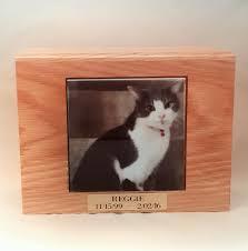 wooden cat urn memorial box front