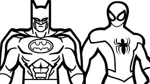 Coloriage Spiderman Et Batman Imprimer Sur Coloriages Par