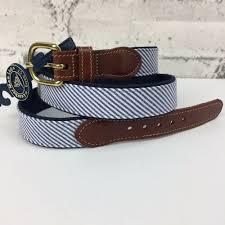 details about leather man ltd men s seerer leather tab belt brass buckle preppy gers