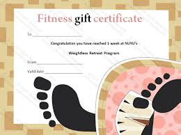 Printable Gift Certificates Templates Free Delectable Weight Loss Fitness Classes Gift Certificate Template