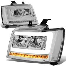 07 Tahoe Daytime Running Light Bulb 07 14 Chevy Tahoe Suburban Led Drl Tube Sequential Led
